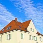 Generic family home in suburban area — Stock Photo
