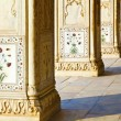 Detail, inlaid flowers on marble column, Hall of Private Audienc — Stock Photo #8338680