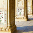 Detail, inlaid flowers on marble column, Hall of Private Audienc — Stock Photo