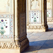 Detail, inlaid flowers on marble column, Hall of Private Audienc — Stock Photo #8338755
