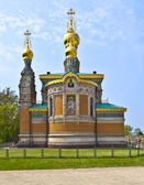 Russian orthodox church Darmstadt Germany — Foto Stock
