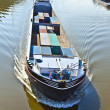 Ship on river main — Stock Photo