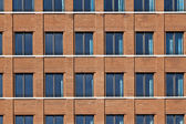 Facade of modern bulding with windows — Stock Photo