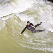 Surfing on river ISAR in Munich, Germany. — Stock Photo #8593059