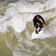 Surfing on river ISAR in Munich, Germany. — Stock Photo #8593156