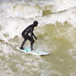 Surfing on river ISAR in Munich, Germany. — Stock Photo #8593160