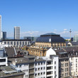 Stock Photo: View to skyline of Frankfurt with famous stock exchange and sky
