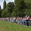 Stock Photo: Spectators at outdoor Hessentag show