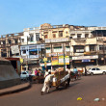 Chawri Bazar is a specialized wholesale market of brass, copper — Stock Photo #8594959