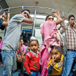 In the metro yellow line in delhi late evening - Foto de Stock