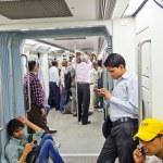 Passengers in the Metro in Delhi, India — Stock Photo #8597019