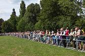 Espectadores en el espectáculo al aire libre hessentag — Foto de Stock