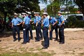 Agentes de la policía vigila el show — Stok fotoğraf