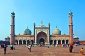 джама масджид мечеть, старый дели, индия. — Стоковое фото