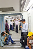 Passengers in the Metro in Delhi, India — Stock Photo