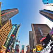 Perspective of Times Square in new York - Stock Photo
