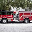 Modern Charleston Fire Department truck - Stock Photo