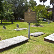 Colonial Park Cemetery in Savannah — Stock Photo