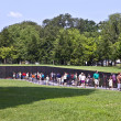 Names of Vietnam war casualties on Vietnam War Veterans Memorial — Stock Photo