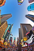 Perspective of Times Square in new York — Stock Photo