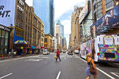 Times Square at afternoon in Manhattan, New YorK — Stock Photo