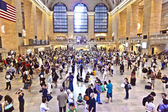 Passengers in Grand Central Station, new York — Stock Photo