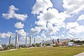 ракетно сад в космический центр кеннеди — Стоковое фото