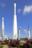 Rocket Garden at Kennedy Space Center — Stock Photo