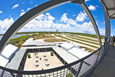 View from the observation tower to the Main essembly building at — Stock Photo