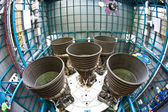 Engines of the apollo rocket in detrail at Apollo space center — Stock Photo