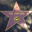 Постер, плакат: The star for The Simpsons on the walk of fame