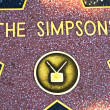 The star for The Simpsons on the walk of fame — Stock Photo