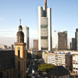 Stock Photo: View to skyline of Frankfurt with Hauptwache
