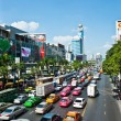 Traffic jam in Bangkok — Stockfoto