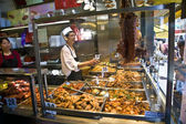 A chinese restaurant offers chinese cookings like duck ,rice,noo — Stock Photo