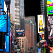 Times Square, featured with Broadway Theaters — Stock Photo
