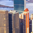 Stock Photo: Aerial view over upper Manhattan from Empire State building top