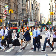 Stock Photo: Hurry downtown Manhattan