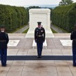 Changing the guard at Arlington national Cemetery in Washington - Stock Photo