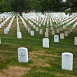 Graves at Arlington national Cemetery in Washington - Stock Photo