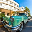 Stock Photo: Midday view at ocedrive to art deco buildings in Miami so