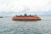 Staten Island Ferry is cruising in the bay — Stock Photo