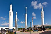 The Rocket Garden at Kennedy Space Center — Stock Photo