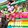Celebrate the Christopher Street Day in Munich with color - Stockfoto