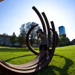 Sculpture biennale Blickachsen in Frankfurt, Germany. — Stock Photo