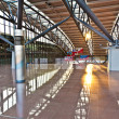 Departure hall at the airport in morning light — Stock Photo