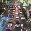 Main road in Bangkok in nightly traffic jam with cars — Stock Photo #8720852