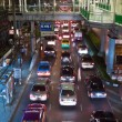 Main road in Bangkok in nightly traffic jam with cars — Stock Photo #8720905