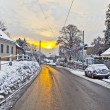 Village of Grinzing in early morning light in Wintertime — Stock Photo #8725166