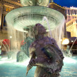 Stock Photo: Fountain at Cesars Palace on Las Vegas Strip in late af